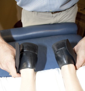"Reactive Leg Reflex® test indicating a ""no"" response"