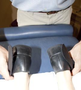 "Reactive Leg Reflex® test indicating a ""yes"" response."
